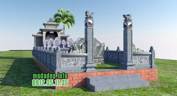 Bản vẽ khu lăng mộ