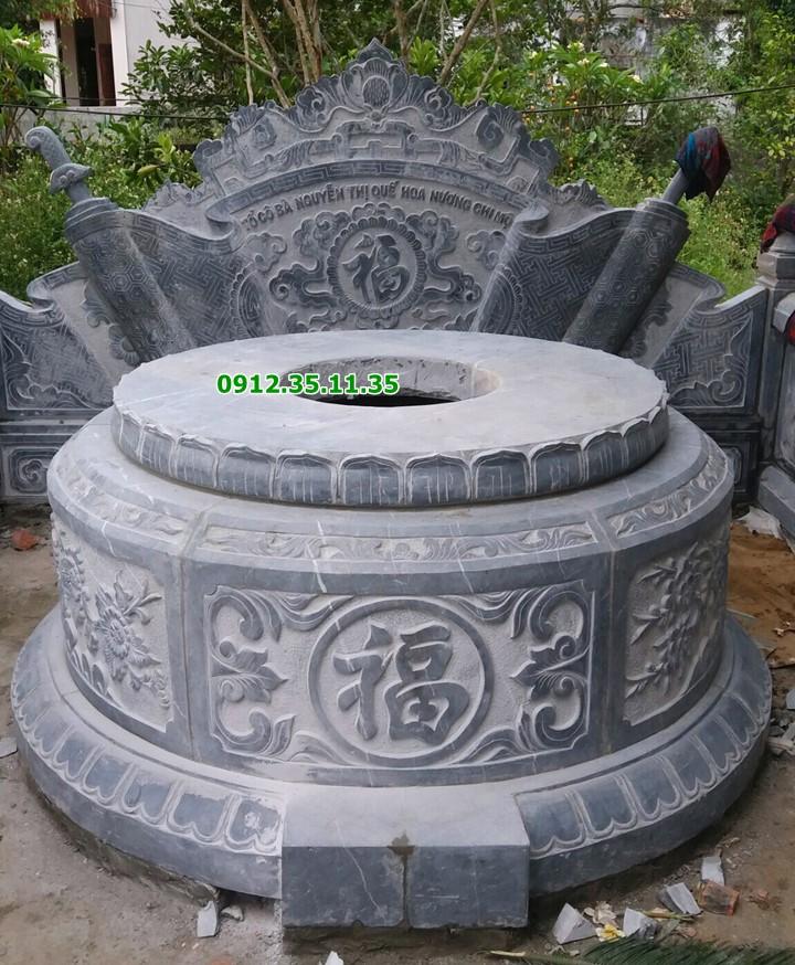 mộ tròn đá đẹp