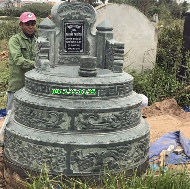 mẫu mộ tròn đá xanh rêu
