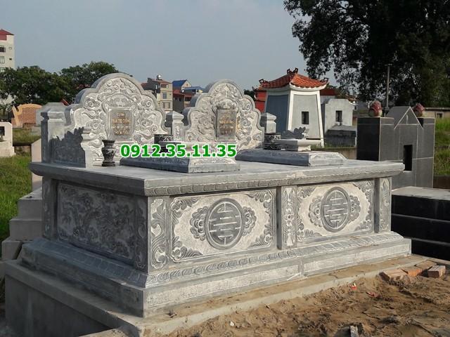 Mẫu mộ đá đôi 22